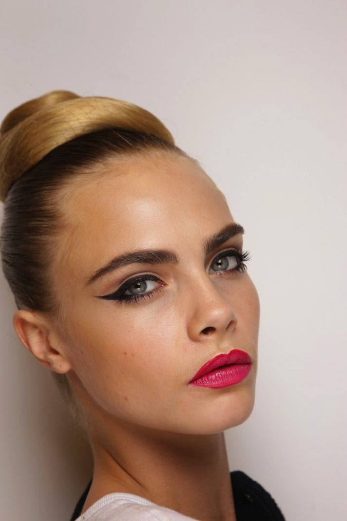 wedding-hair-makeup-trends-from-fashion-week-vintage-inspired-updo-cat-eyes__full