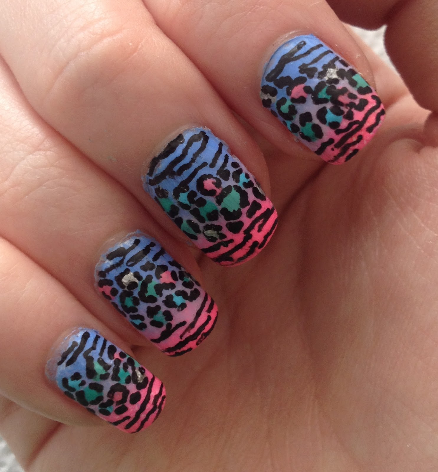 Colorful Print Nail Ideas