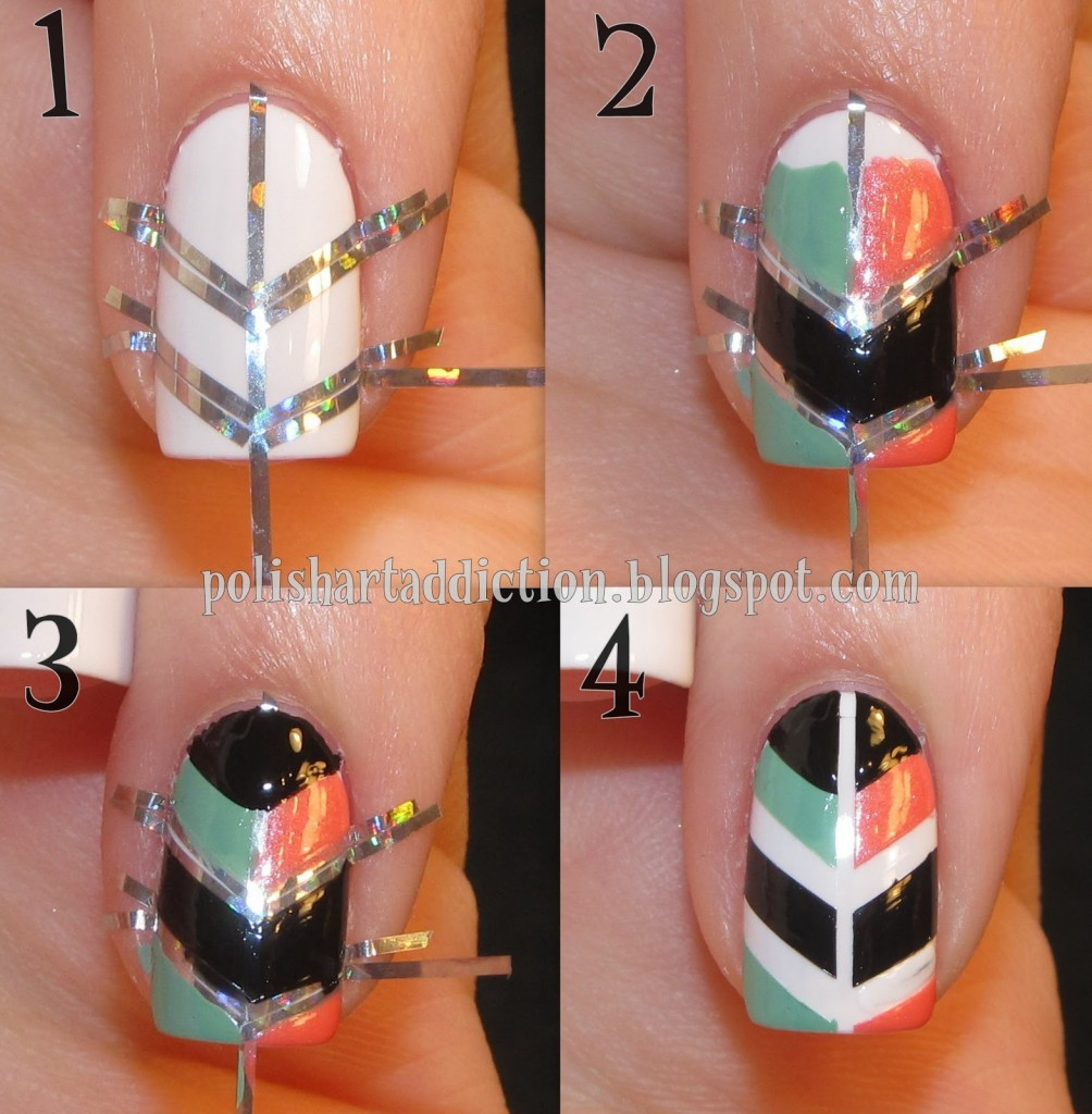 Step By Step Nail Art For Short Nails Nail Ideas Pinterest