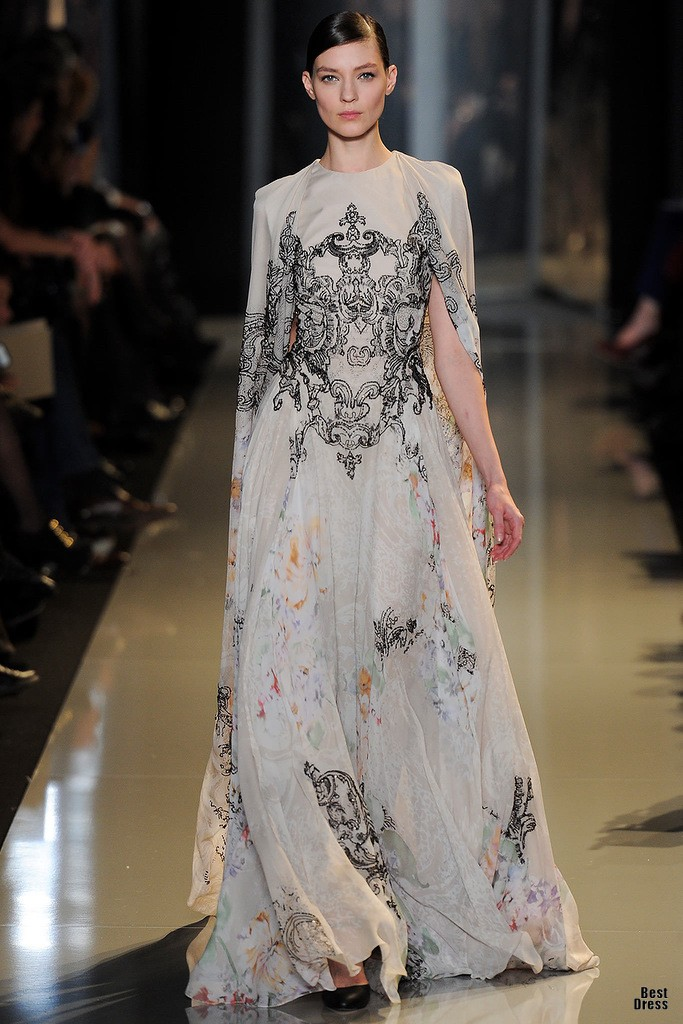 Elie saab couture spring summer 2013 for Designer haute couture dresses