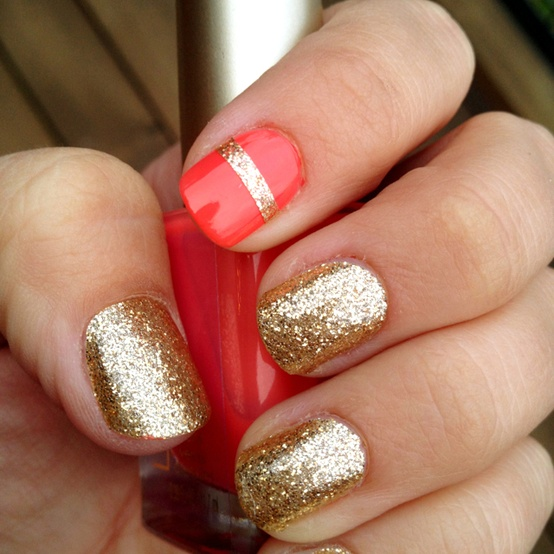 nails with gold (10)