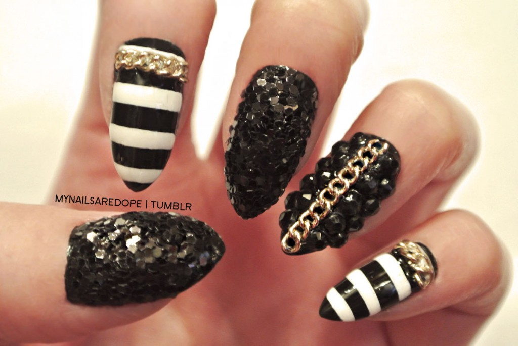 nails with gold (2)