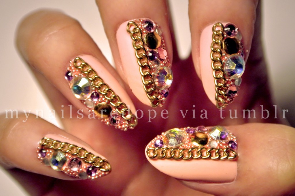 nails with gold (25)