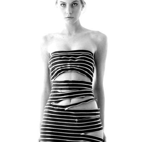 Sexy All Zipper Dress Design Idea