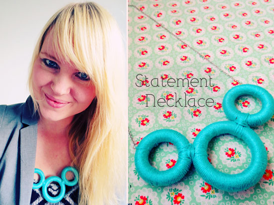 Necklace With Wooden Rings – DIY