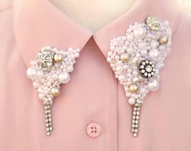 DIY: Create your collar to look beautiful