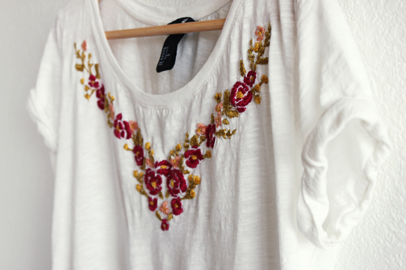 DIY: Hand Embroidered T-shirt