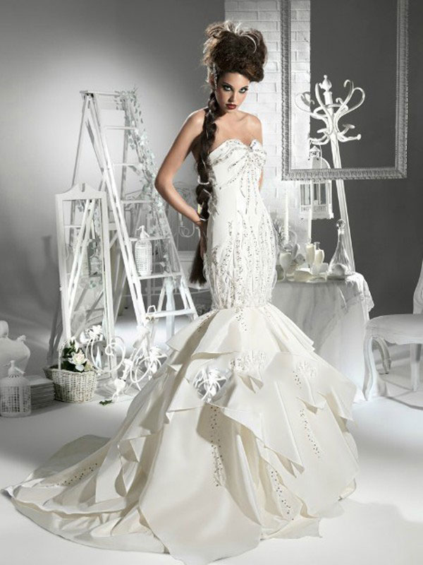 Amazing Mermaid Wedding Dresses 2013 (31)