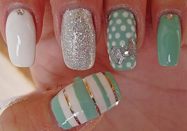 Beautiful-spring-nails-with-silver-design-(15)