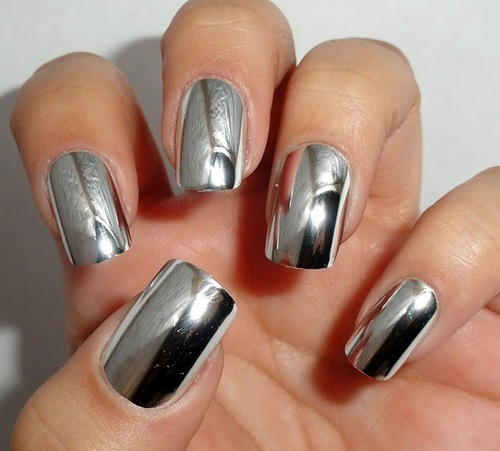 Beautiful spring nails with silver design (19)