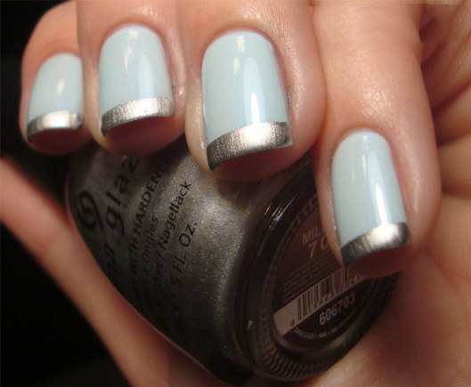 Beautiful-spring-nails-with-silver-design-(5)
