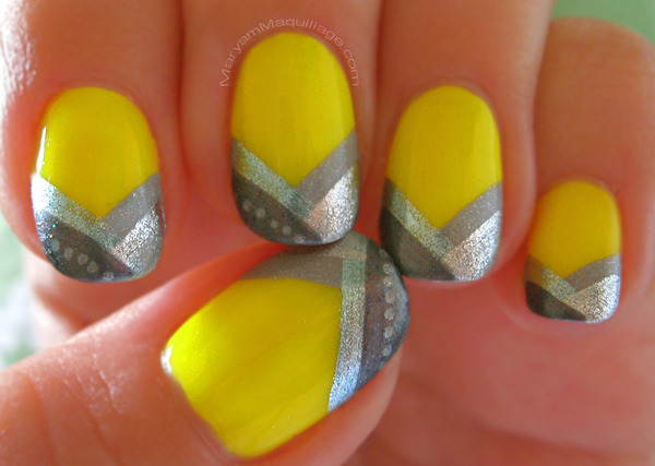 Beautiful spring nails with silver design (9)