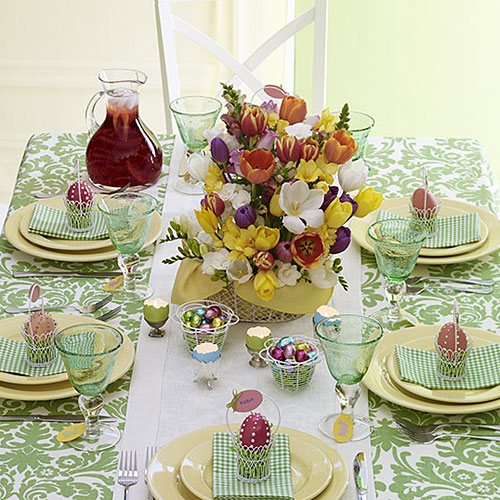 41 fashionable ideas to decorate your home for easter - Easter table decorations meals special ...