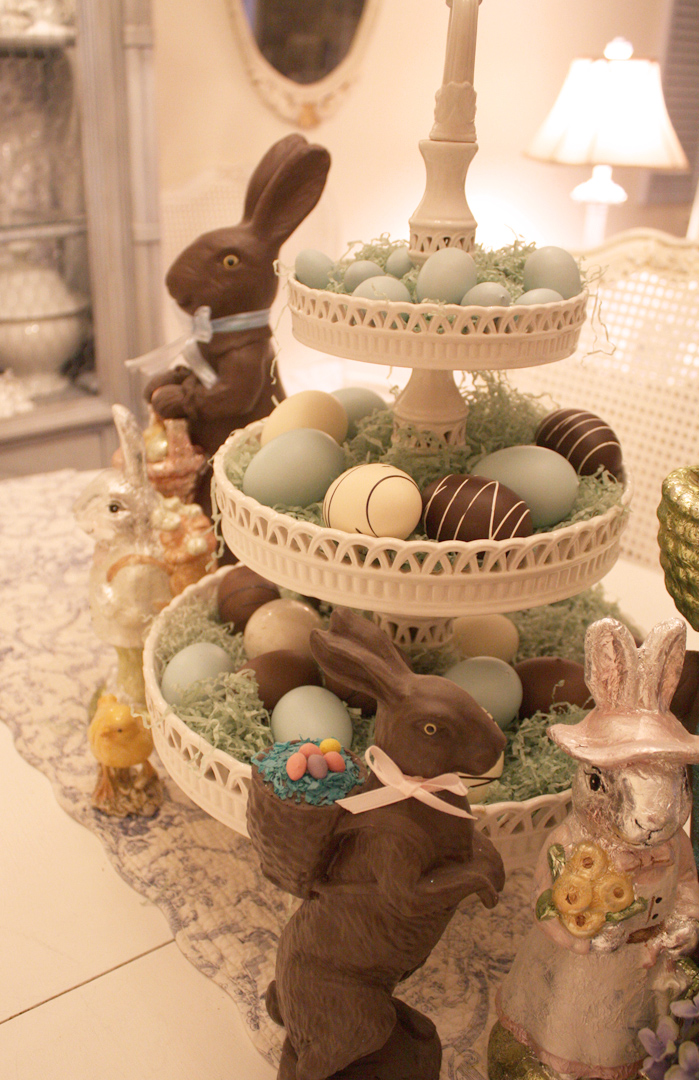 41 fashionable ideas to decorate your home for easter for Home easter decorations