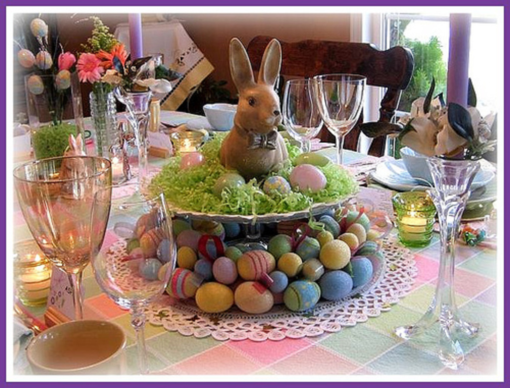 Food laughter and happily ever after easter round up for Table centerpieces for home