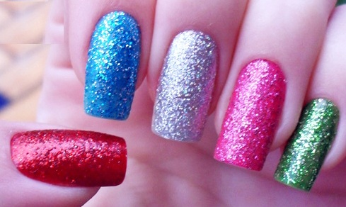 Glitter Nail Polish Ideas  (17)