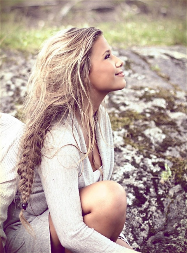 Long hair, breaded below captures your essence