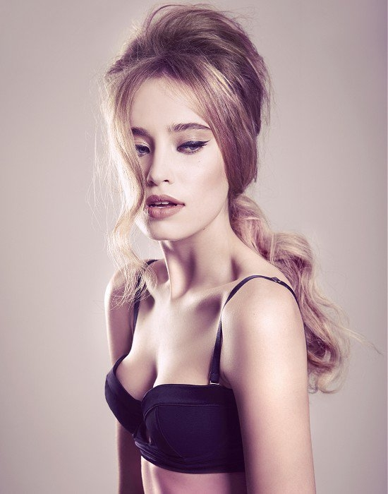 Sensual looks with cascading hair