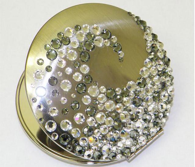 Handy Mirrors With Swarovski Crystal  (11)
