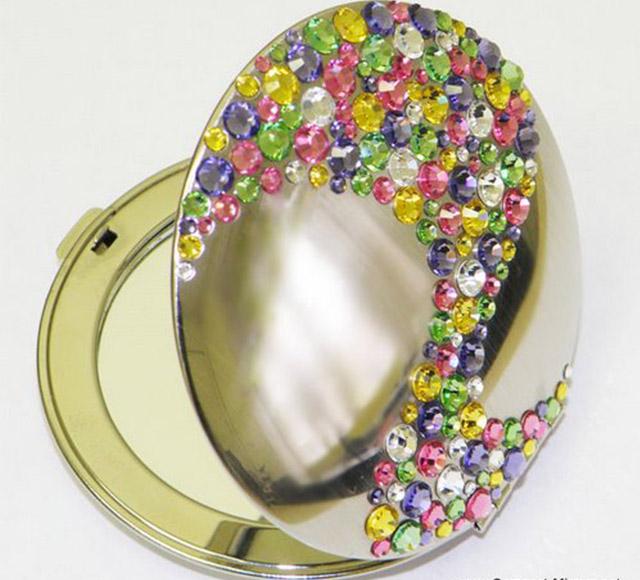 Handy Mirrors With Swarovski Crystal  (13)