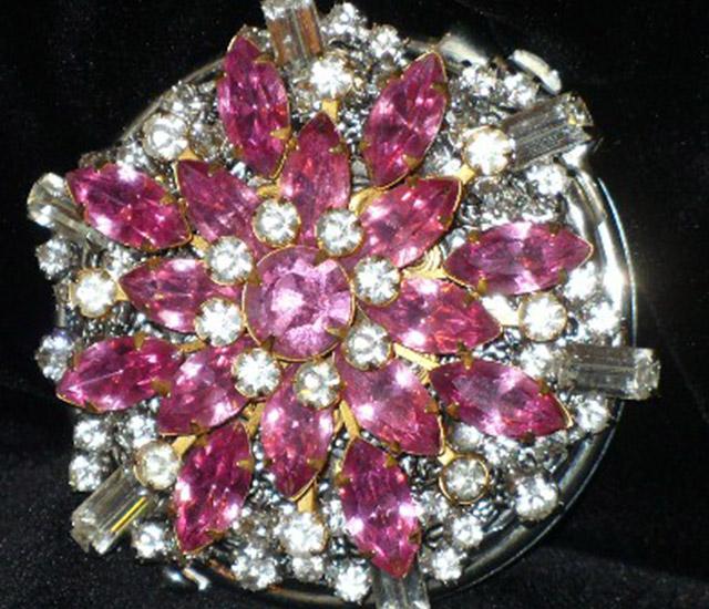 Handy Mirrors With Swarovski Crystal  (15)