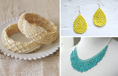 Interesting Craft  Ideas With Lace (9)