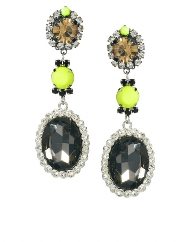 Neon Blast Gem Drop Earring