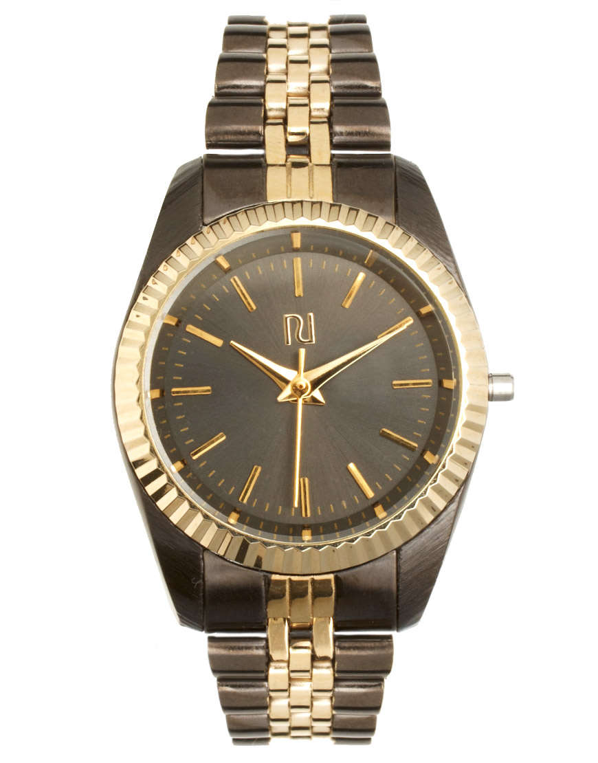 River Island Vintage Style Link Watch