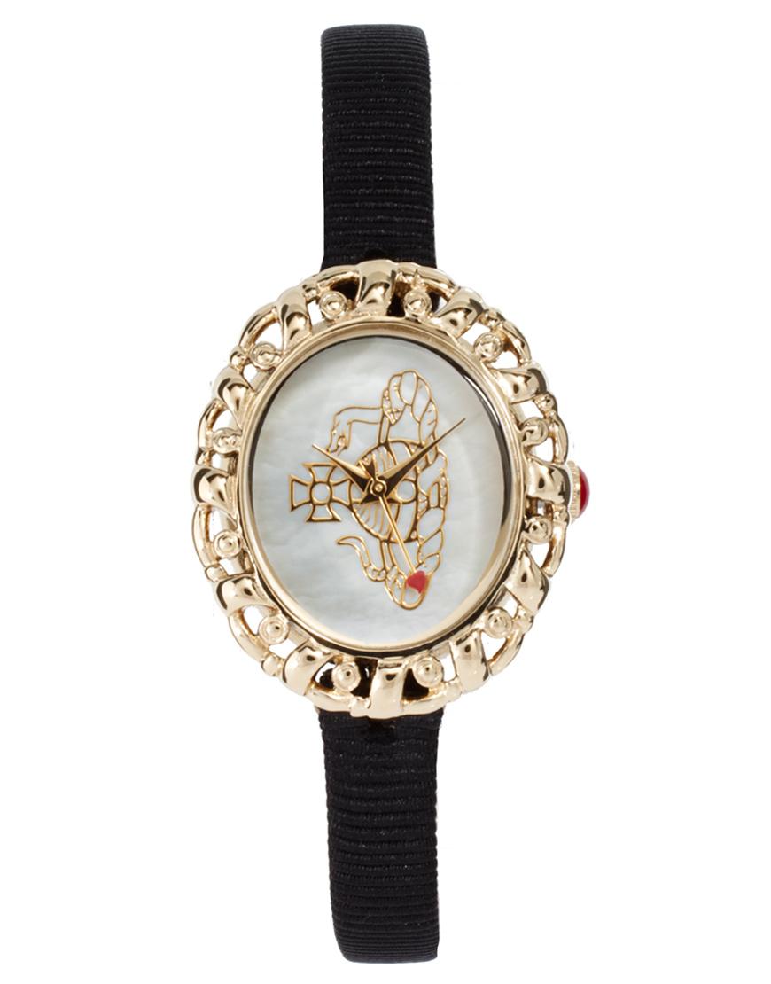 Vivienne Westwood Rococo Black Strap Watch