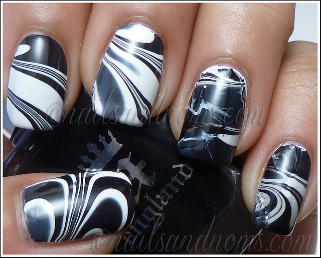 black and white manicure ideas (1)