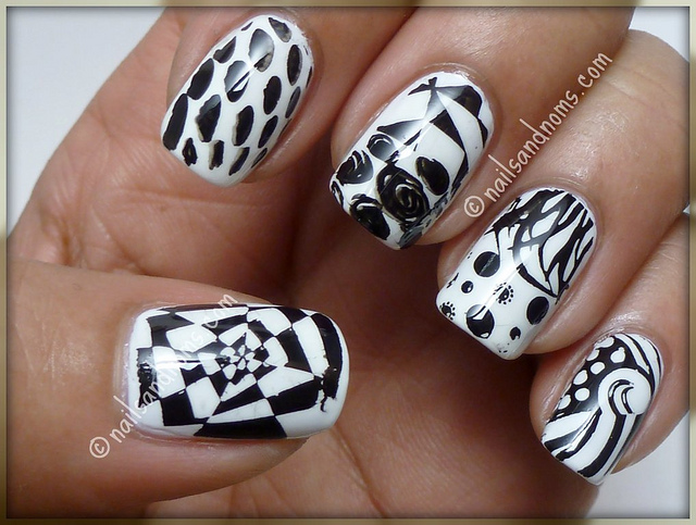 black and white manicure ideas (15)