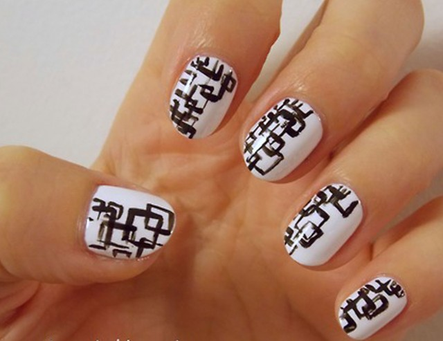black and white manicure ideas (28)
