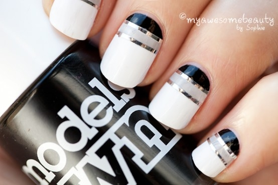 black and white manicure ideas (35)