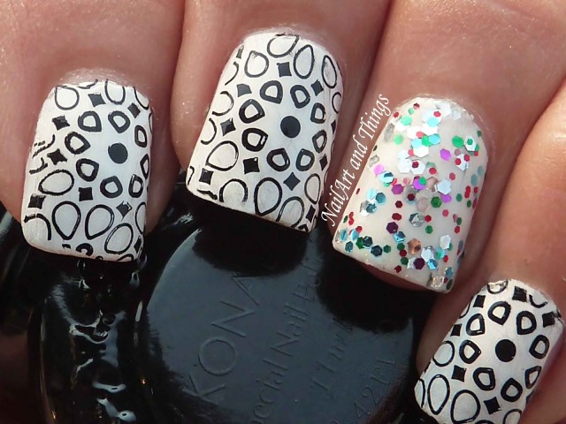 black and white manicure ideas (41)