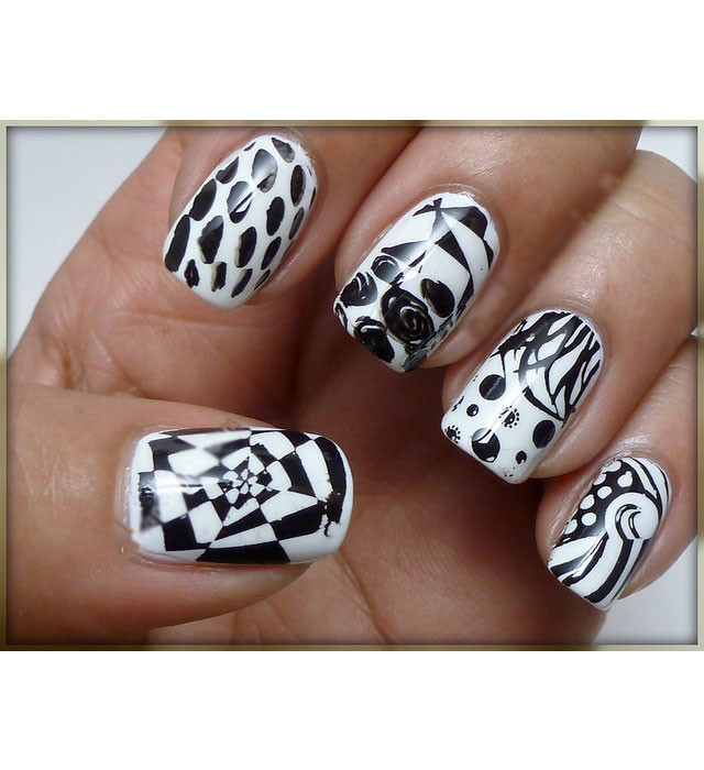 black and white manicure ideas (45)