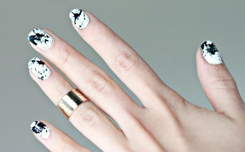 black and white manicure ideas (51)