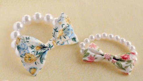 DIY: Easy Beautiful Pearl And Bow Bracelet