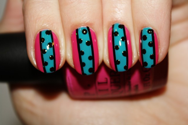Amazing Retro Nails Design (14)