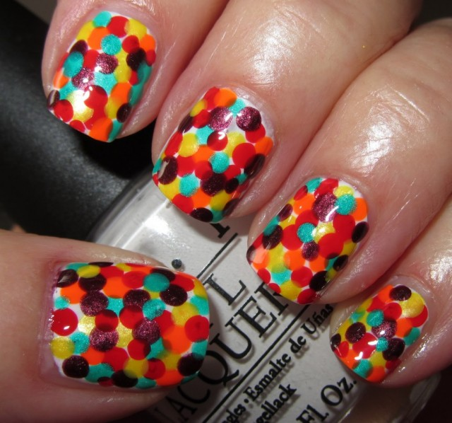 Amazing Retro Nails Design (15)