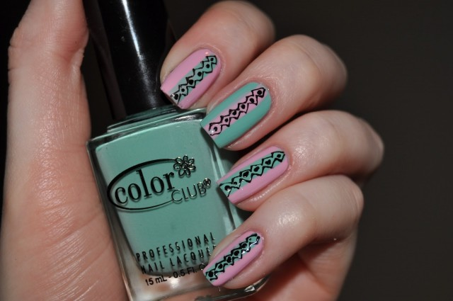 Amazing Retro Nails Design (18)
