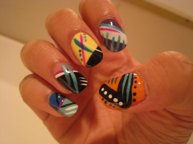 Amazing Retro Nails Design (26)