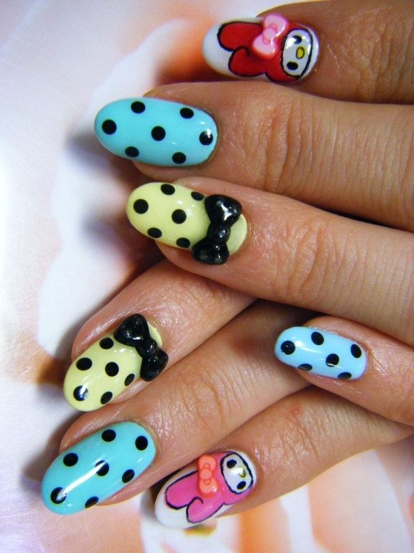 Amazing Retro Nails Design (35)