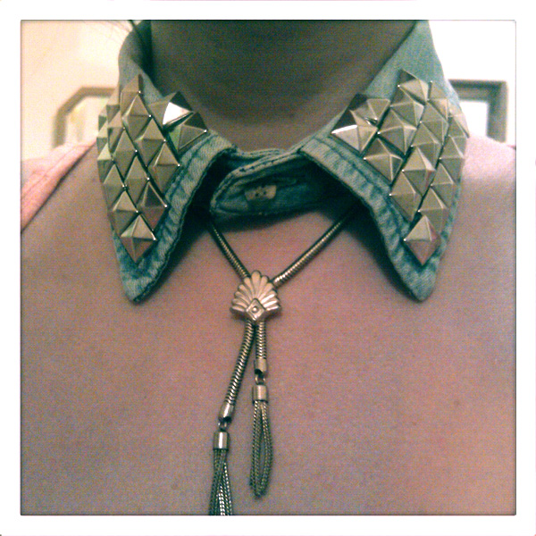 DIY Denim Studded Collar: The Perfect Fall Accessory