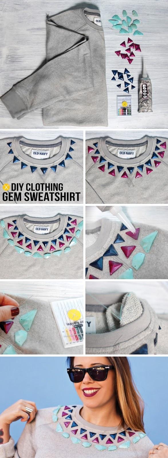 DIY | Gem Embellished Sweatshirt