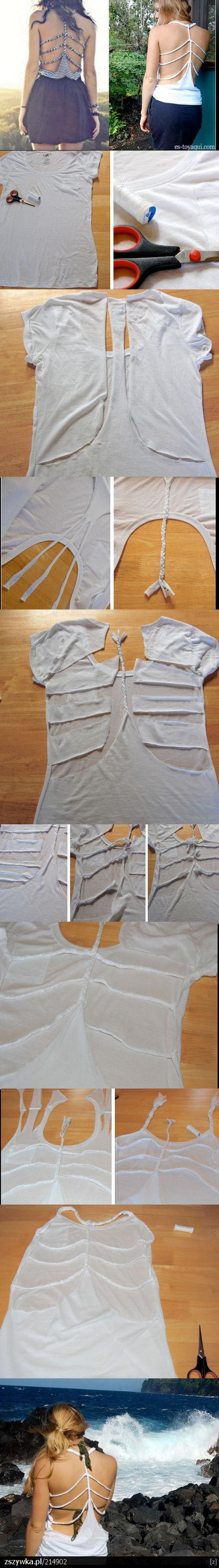 DIY braided back tshirt