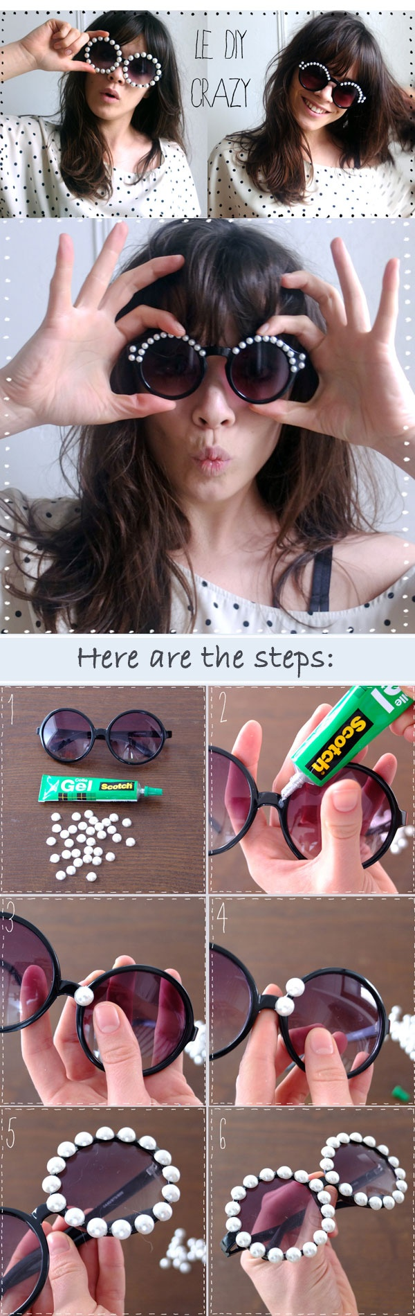 DIY fashion individual sunglasses