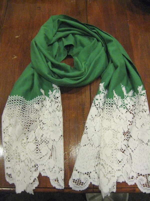 DIY lace scarf!