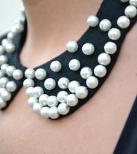 DIY- pearls collar