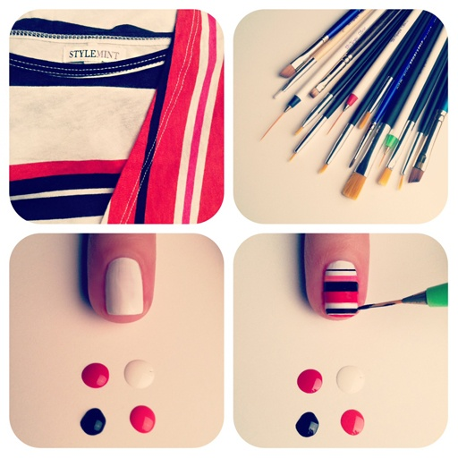 DIY stripe mani