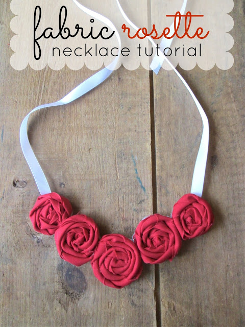 Fabric Rosette Necklace